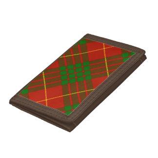 カメロンのタータンチェックの三重ナイロン財布