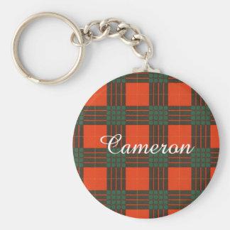 カメロンの一族の格子縞のスコットランド人のタータンチェック キーホルダー
