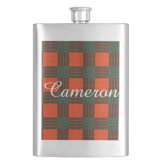 カメロンの一族の格子縞のスコットランド人のタータンチェック フラスク