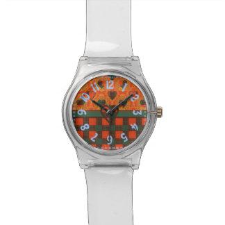 カメロンの一族の格子縞のスコットランド人のタータンチェック 腕時計