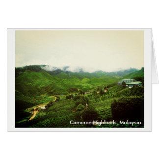カメロンの高地、マレーシアの景色 カード