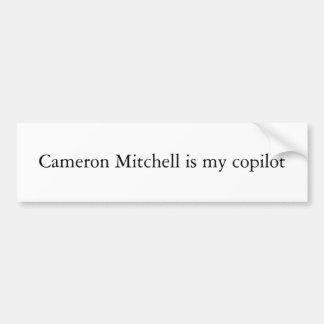 カメロンMitchellは私の副操縦士です バンパーステッカー