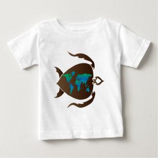 カメ世界 ベビーTシャツ