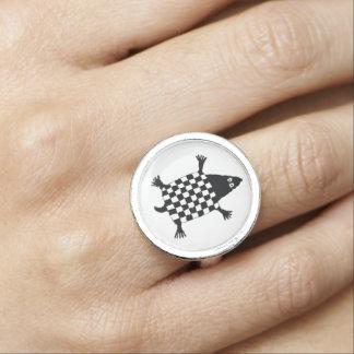 カメ、Mimbres陶器のデザイン 指輪
