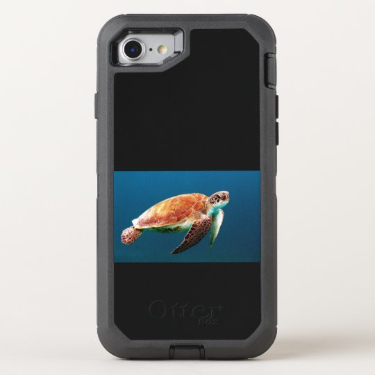 カメ turtle オッターボックスディフェンダーiPhone 8/7 ケース