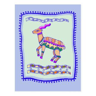 カモシカのキルト ポストカード