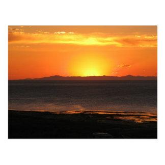 カモシカの島の日没 ポストカード