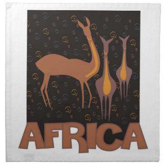 カモシカの昔ながらのなアフリカの茶色のアートワーク ナプキンクロス