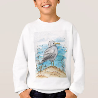 カモメのデザイン スウェットシャツ