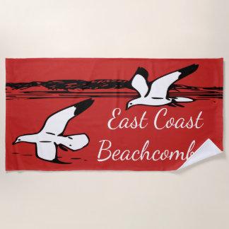 カモメのビーチの東海岸のBeachcomberタオル ビーチタオル