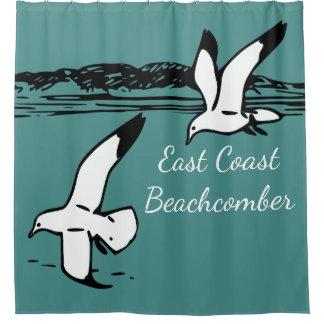 カモメのビーチのEastCoastのBeachcomberのシャワー・カーテン シャワーカーテン