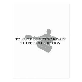 カヤックにまたはカヤックを漕がないため ポストカード