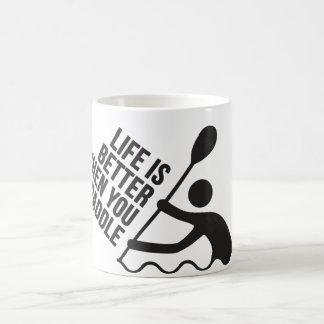 カヤックのカヌーのかいデザイン コーヒーマグカップ