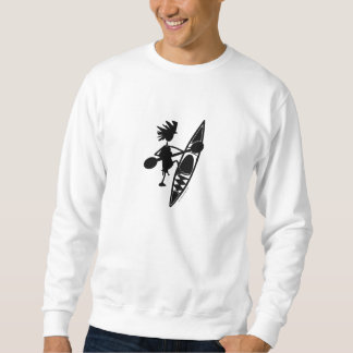 カヤックのカヌーの嬉しいシルエット スウェットシャツ