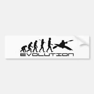 カヤックのカヤックを漕ぐウォーター・スポーツの進化の芸術 バンパーステッカー