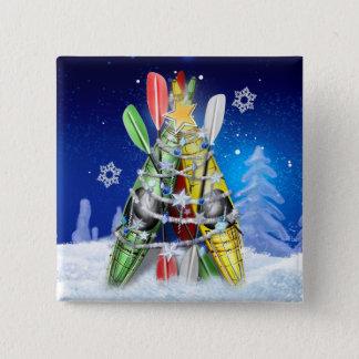 カヤックのクリスマスツリー 缶バッジ