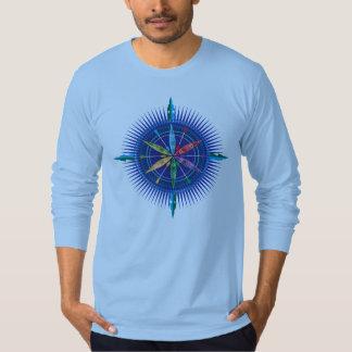 カヤックのコンパス面図のTシャツ Tシャツ