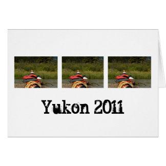 カヤックのバランス; ユーコン準州領域の記念品 カード