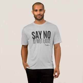 カヤックのヒップスター-ぬれた出口を拒否して下さい-スポーツ-人 Tシャツ