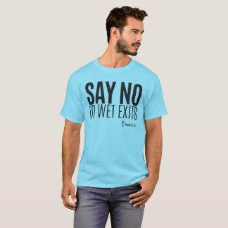 カヤックのヒップスター-ぬれた出口を拒否して下さい-人 Tシャツ