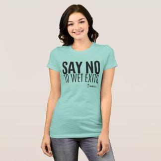 カヤックのヒップスター-ぬれた出口を拒否して下さい-女性 Tシャツ