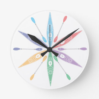 カヤックの時間 ラウンド壁時計