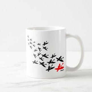 カヤックの群れ コーヒーマグカップ