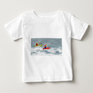 カヤックの芸術 ベビーTシャツ