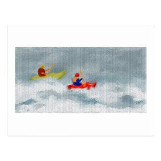 カヤックの芸術 ポストカード