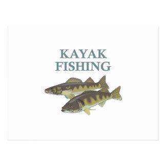 カヤックの魚釣り ポストカード