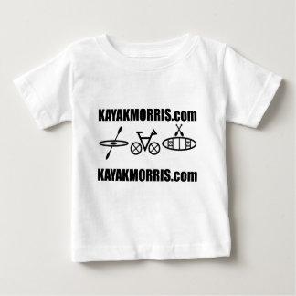 カヤックのmorrisのバイクのカヌーイリノイ ベビーTシャツ