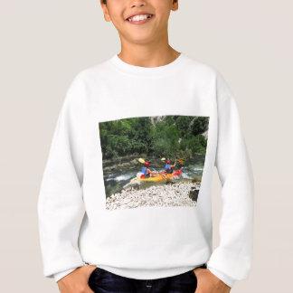 カヤックを漕ぐこと スウェットシャツ