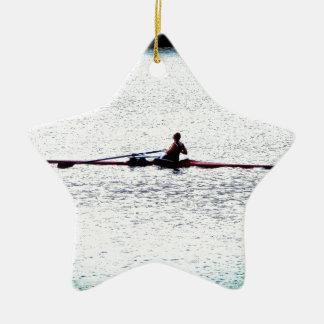 カヤックを漕ぐこと セラミックオーナメント