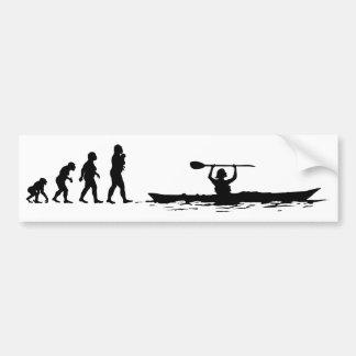 カヤックを漕ぐこと バンパーステッカー