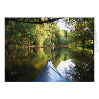カヤックを漕ぐ冒険のメッセージカード カード