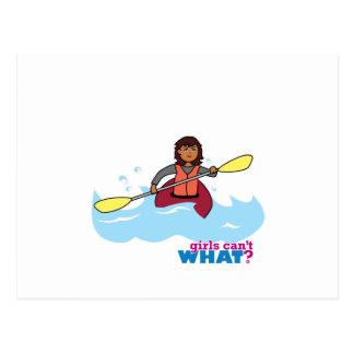 カヤックを漕ぐ女の子 ポストカード