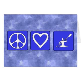 カヤックを漕ぐ平和愛 カード