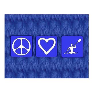 カヤックを漕ぐ平和愛 ポストカード