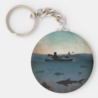 カヤックを漕ぐ海 キーホルダー