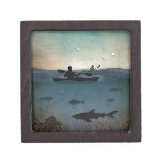 カヤックを漕ぐ海 ギフトボックス