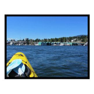 カヤックを漕ぐ海 ポストカード