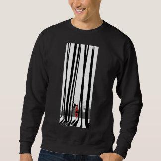 カヤック、猿、森林 スウェットシャツ