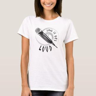 カラオケの歌手か音楽的な行為-マイクロフォンのデザイン Tシャツ
