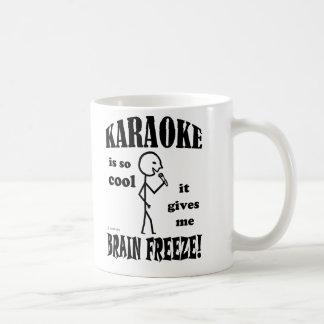 カラオケ、頭脳の氷結 コーヒーマグカップ