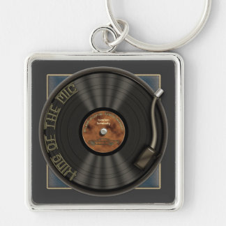 カラオケLPのレコードの報酬Keychain キーホルダー