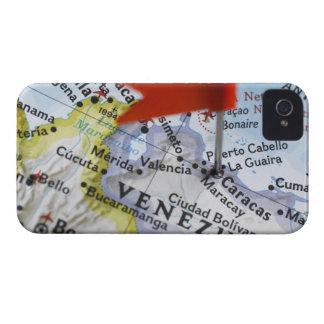 カラカス、地図のベネズエラに置かれるピンの地図を描いて下さい Case-Mate iPhone 4 ケース
