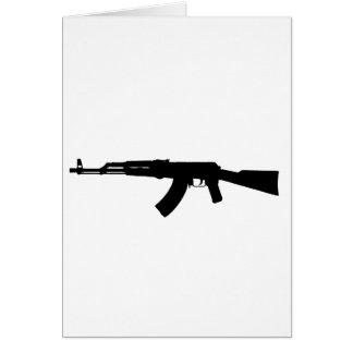 カラシニコフ自動小銃のシルエット カード
