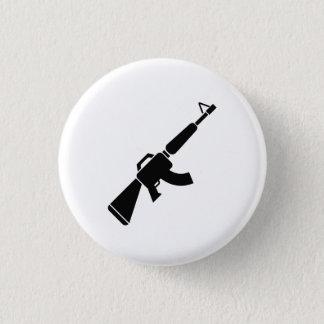 カラシニコフ自動小銃のピクトグラムボタン 3.2CM 丸型バッジ