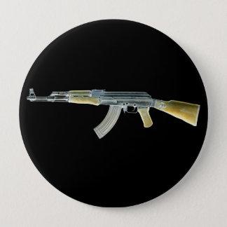 カラシニコフ自動小銃の否定的な黄色 10.2CM 丸型バッジ