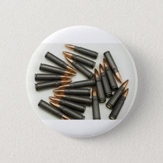 カラシニコフ自動小銃の弾薬弾薬7.62x39mm空ポイント 5.7cm 丸型バッジ